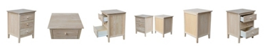 International Concepts Nightstand with 3 Drawers