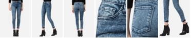 FLYING MONKEY Mid Rise Acid Wash Skinny Ankle Jeans