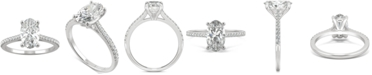 Charles & Colvard Moissanite Oval Engagement Ring (2-1/2 ct. t.w. DEW) in 14k White Gold or 14k Yellow Gold