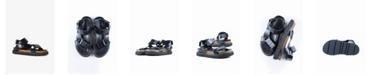 ALL BLACK Women's Pressed Croc Lowform Flat Sandal