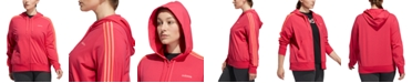 adidas Plus Size Full-Zip Jersey Hooded Jacket
