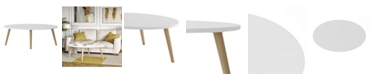 Handy Living Gianna Oval Wood Cocktail Table