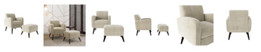 Handy Living Thom's Arm Chair and Ottoman Set