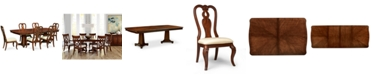 Furniture Closeout! Bordeaux Double Pedestal 7-Pc. Dining Set (Dining Table & 6 Queen Anne Side Chairs)