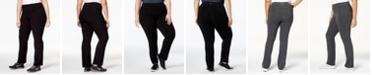 Calvin Klein Plus Size Compression Narrow Leg Pant