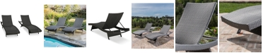Noble House Aldin Outdoor Wicker Chaise Lounges (Set Of 2)