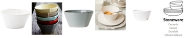 VIETRI Lastra White Collection Stacking Cereal Bowl
