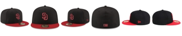 New Era San Diego Padres Black & Red 59FIFTY Fitted Cap