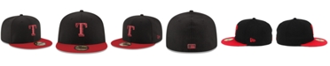 New Era Texas Rangers Black & Red 59FIFTY Fitted Cap