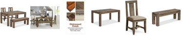 """Furniture Canyon Small 4-Pc. Dining Set, (60"""" Dining Table, 2 Side Chairs & Bench), Created for Macy's"""
