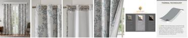 """SunSmart Julie 50"""" x 84"""" Textured Botanical-Print Blackout Window Panel"""