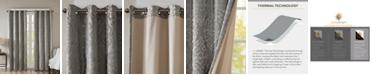 "SunSmart Mirage 50"" x 84"" Knit Damask Total Blackout Window Panel"