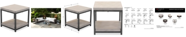 Furniture Viewport Aluminum Double Shelf End Table, Created for Macy's