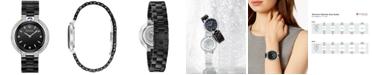 Bulova Women's Diamond (1/3 ct. t.w.) Rubaiyat Stainless Steel & Black Ceramic Bracelet Watch 35mm