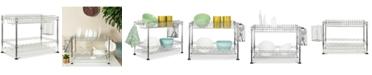 Furniture Darina Adjustable Chrome Wire Dish Rack, Quick Ship