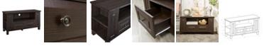 "Walker Edison 44"" Wood TV Media Stand Storage Console - Espresso"