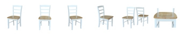 International Concepts Madrid Ladderback Chair, Set of 2