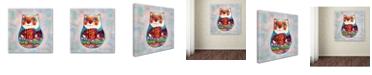 "Trademark Global Oxana Ziaka 'Cat Russian' Canvas Art - 14"" x 14"" x 2"""