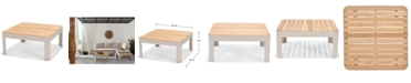 Furniture CLOSEOUT! Modern Tropic Teak Outdoor Coffee Table, Created for Macy's