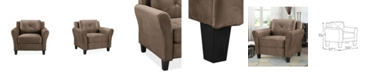 Lifestyle Solutions Harvard Microfiber Chair With Rolled Arms