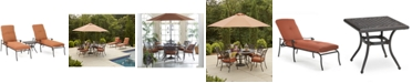 Furniture Chateau Outdoor Cast Aluminum 3-Pc. Chaise Set (2 Chaise Lounge and 1 End Table), Created for Macy's