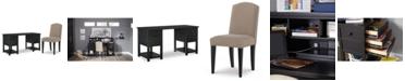 Furniture Study Hall Kid's Home Office Furniture, 2-Pc. Set (Junior Executive Desk & Upholstered Desk Chair)