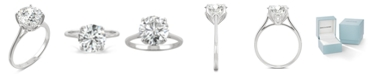 Charles & Colvard Moissanite Round Solitaire Ring (2-3/4 ct. tw. Diamond Equivalent) in 14k White Gold or 14k Yellow Gold