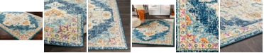 """Abbie & Allie Rugs Morocco MRC-2308 Teal 18"""" Area Rug Swatch"""