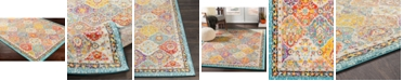 """Abbie & Allie Rugs Morocco MRC-2313 Teal 18"""" Area Rug Swatch"""