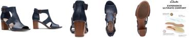 Clarks Collection Women's Deva Heidi Heeled Sandals