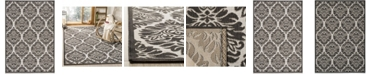 """Safavieh Linden Light Gray and Charcoal 5'1"""" x 7'6"""" Area Rug"""
