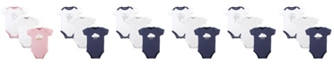 Hudson Baby Bodysuits, 3-Pack, 0-24 Months