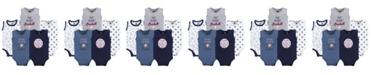 Hudson Baby Sleeveless Bodysuits, 5-Pack, Baseball, 0-24 Months