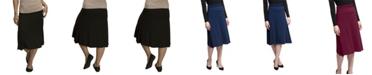 YALA Designs YALA Stella Tea Length Viscose from Bamboo Skirt