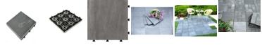 Courtyard Casual Natural Slate Deck Tile, 6 Piece Set