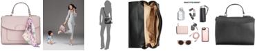 Giani Bernini Leather Crossbody Satchel with Scarf, Created for Macy's