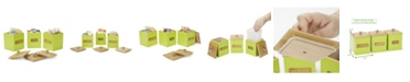Mind Reader Labeled Square Storage Canisters, Set of 3