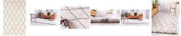 Bridgeport Home Fazil Shag Faz3 Ivory 5' x 8' Area Rug