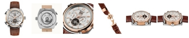 Ingersoll Michigan Automatic with Two-Tone Stainless Steel and Rose Gold IP Case with Silver Dial and Brown Croco Embossed Leather Strap