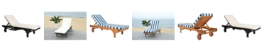 Safavieh Newport Chaise Lounge Chair With Side Table