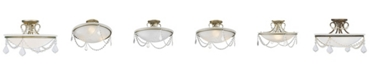 Livex Chesterfield 3-Light Ceiling Mount