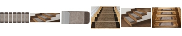 """Ottomanson Softy Collection Non-Slip Rubber Backing Stair Tread Pack of 7, 9"""" x 26"""""""