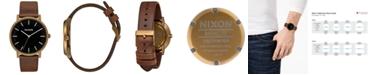 Nixon Men's Porter Leather Strap Watch 40mm