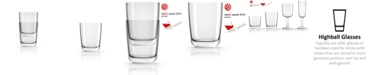 Marc Newson by PalmTritan Forever-Unbreakable Highball Tumbler with white non-slip base, Set of 2
