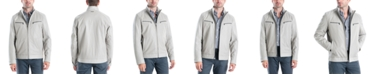Michael Kors Michael Kors Men's Perforated Faux-Leather Moto Jacket, Created for Macy's