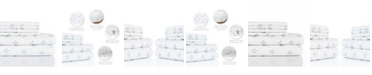 Aspire Linens 300 Thread Count with 2 Bonus Pillowcases, 6-PC Printed Queen Sheet Set