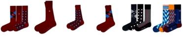 Love Sock Company Men's Organic Cotton Patterned Socks Bundle, 3 Pack