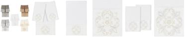 Linum Home 100% Turkish Cotton Alyssa 3-Pc. Embellished Bath and Hand Towel Set