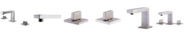 ALFI brand Brushed Nickel Modern Widespread Bathroom Faucet