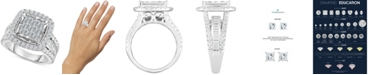 TruMiracle Diamond Halo Cluster Engagement Ring (2 ct. t.w.) in 10k White Gold
